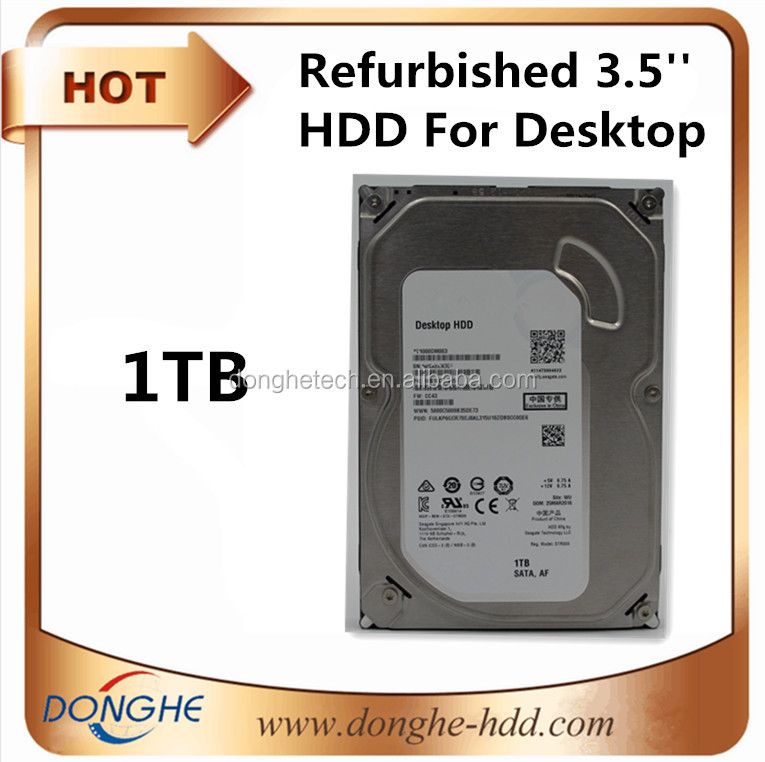 [ hdd 3.5 ] factory refurbished internal hard drive 1tb, 3.5 SATA 7200rpm used hard disk wholesale for PC/ Desktop