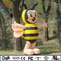 inflatable bee, inflatable moving cartoon, inflatable advertising cartoon
