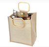 Super quality new arrival single bottle canvas wine tote bag