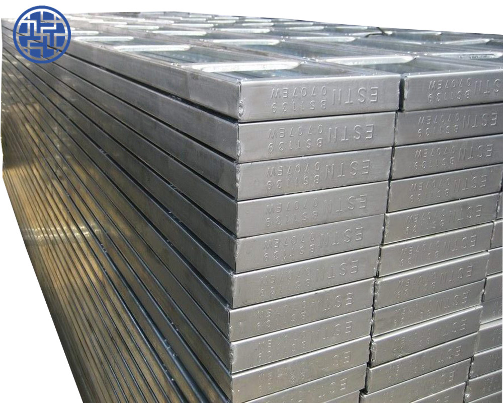 Scaffolding parts perforated steel plank