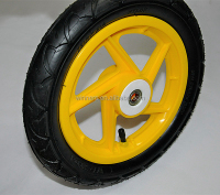 yellow color 12 inch children balance road bike wheel