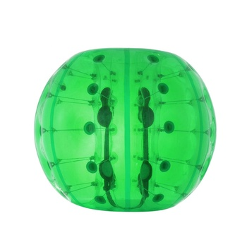 Full Green Colour Human Bubble Soccer Ball Suit Bump Game 1.5m PVC Inflatable Bumper Bubble Ball For Outdoor