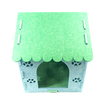 Eco-friendly handmade comfortable big room new design felt pet house for dogs