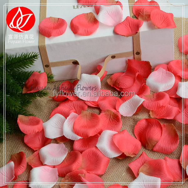 E150381 factory direct cheap price wholesale wedding bedroom decorating artificial flower fabric rose petals