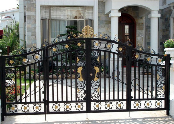Ornamental wrought iron yard gates metal fence gate