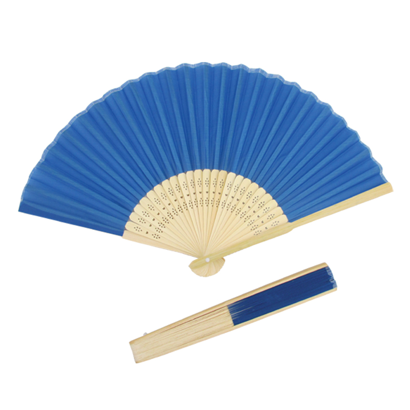 Gift Silk Hand Fans with hollowed <strong>bamboo</strong> ribs