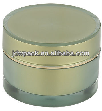 50g green round cosmetic jar for sale