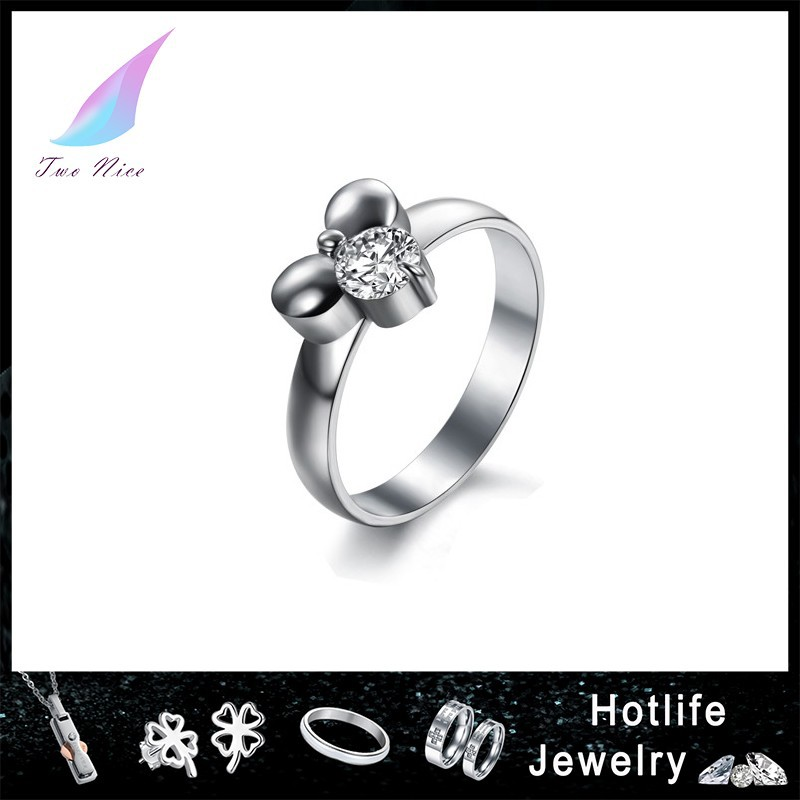 Charm 925 Silver Color Diamond Ring Girls Engagement Ring Buy 925 Silver Di