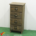 4 drawers cottage style antique wood storage cabinets