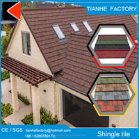 stone chip coated type of metal roofing material