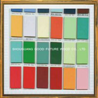 2015 UV high glossy 18mm colored laminated melamine mdf board