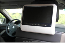 2014 new 9 inch car dvd headrest player, clip on headrest dvd player
