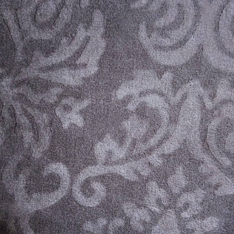 Polyester spandex material soft comfortable steam velour beautiful embossed fabric for home textile