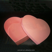 2015 new arrival pink heart shape acrylic gift box