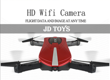 Dropshipping New Toys Mini Foldable RC Selfie Drones with HD/WIFI Camera JD18 Drone Quadcopter