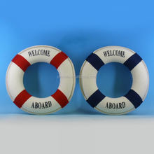 "Decorative Life buoy saver,(15,30cm), ""Welcome aboard"", life buoy ring for decoration, life preserves craft"