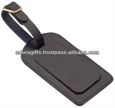 leather luggage tag for traveling / latest fashion leather hang tags / leather golf bag tags with your logo