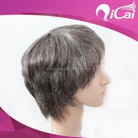 Aliexpress Brazilian human hair gray color short bob human hair front lace wig for old woman