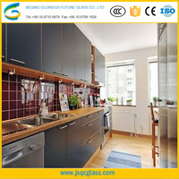 Factory supply customed size Standard thickness Decorative glass partition for kitchen
