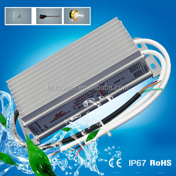 KV-12060-A-DIM 12V IP67 60w led transformer dimmable constant voltage power supply