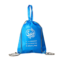 wholesale custom non woven drawstring backpack with carry handle