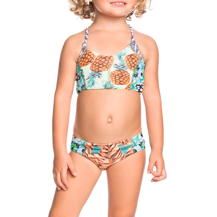 New arrival printed halter kids sexy xxx girl swimwear photos image