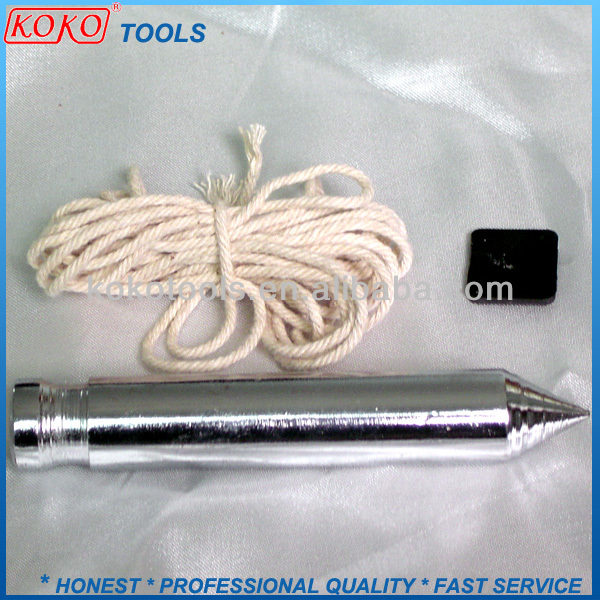 Diameter 16mm plastic pin construction tools plumb bob with 2.5m cotton rope