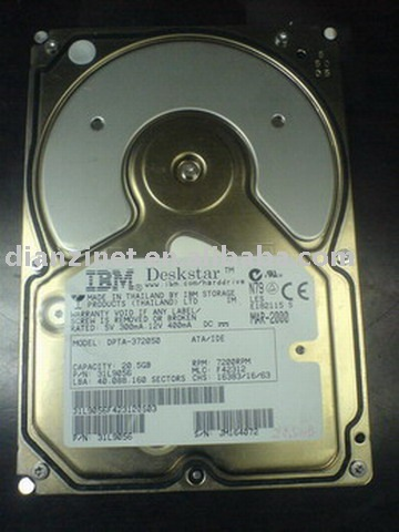 Used 20GB 7200rpm HDD(hard drive)