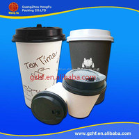 Custom disposable plastic cups lid and straw