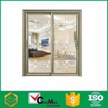 Wholesale Champagne Color 3 Three Panel Bathroom Slide Glass Door