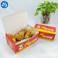 Cardboard Or Corrugated Box Printed Used For Packing Fried Chicken, Potato Chips Chicken Box