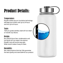 18oz/32oz/40oz Hydro Double Wall Vacuum Insulated Stainless Steel Water Bottle
