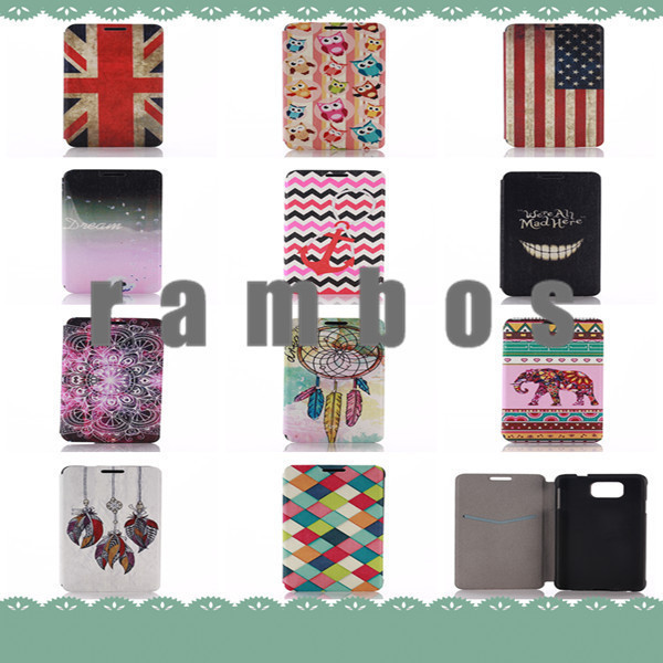 Vintage Dream Catcher US Flag Wallet Flip PU Leather Case Cover for iPhone 4/4S