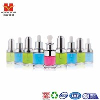 Essential oil set pink color empty cosmetic packaging dropper glass bottle HY1319
