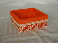 Elegant paper basket with liner for storage and homehold use