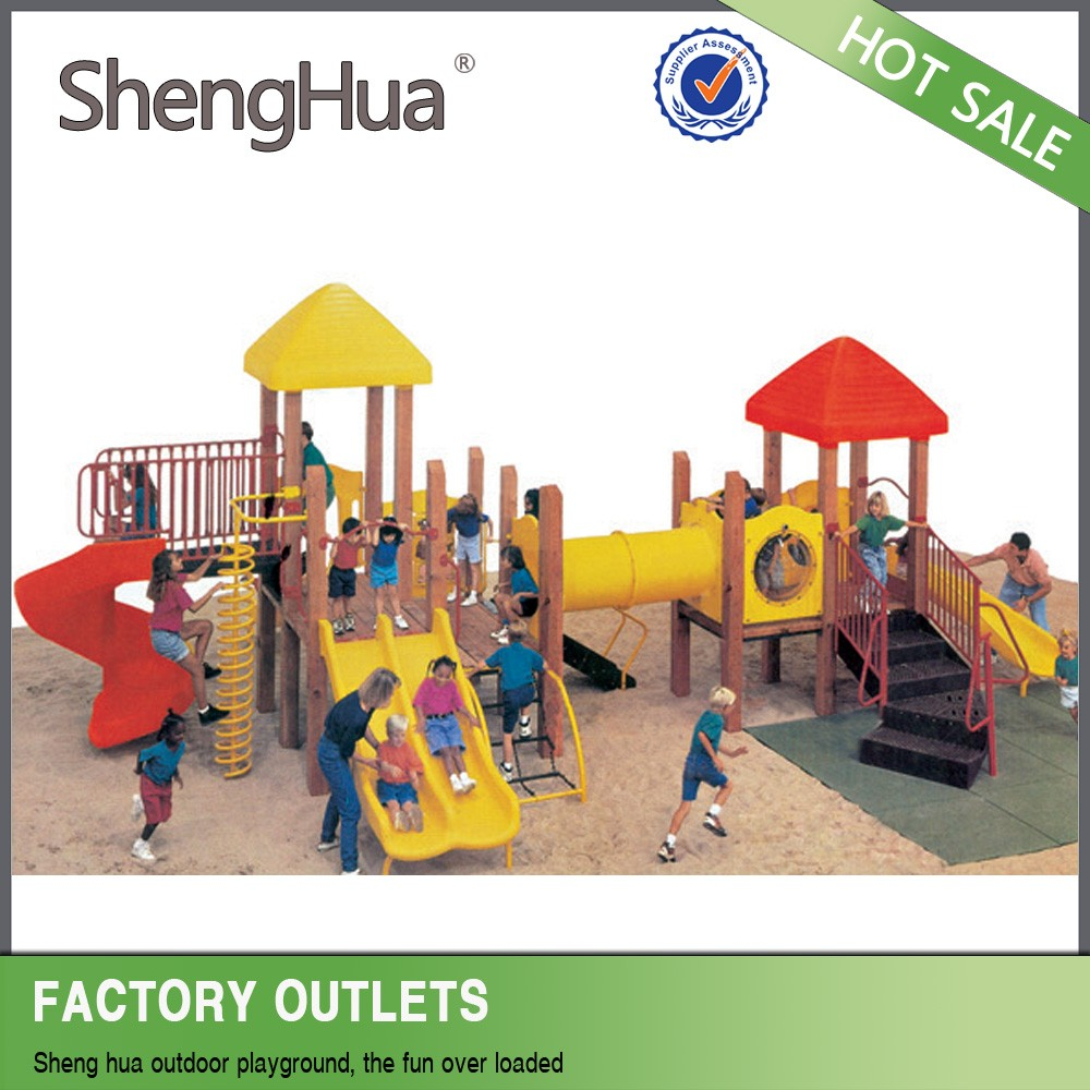 Hot sale children park outdoor wooden slide playground <strong>equipment</strong>