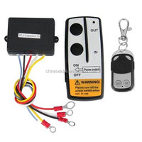DC 12V Black Wireless 50FT Remote Control Kit for Car Truck Jeep ATV Winch