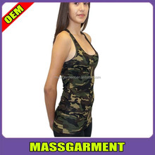 Quick dry plus size elastic women camo tank tops high quality cheap wholesale