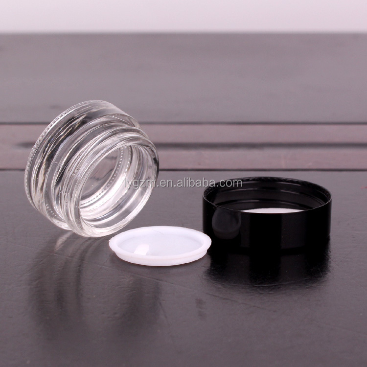 5ml 4ml 7ml 10ml wide mouth glass cream jar for cosmetic personal care