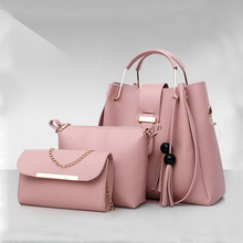 2018 Newest 3 IN 1 Handbag set Women PU Leather shoulder Bags Tote Bag Guangzhou Manufacturer