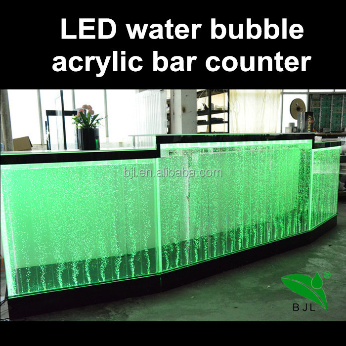 <strong>Bar</strong> designs customized led water features bubble wall <strong>bar</strong> counter