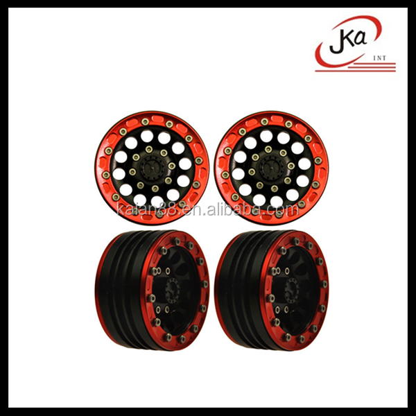 4 Pcs 1/10 1.9 CNC Alloy beadlock Crawler wheels rims for SCX10 RC Rock Truck Accessory