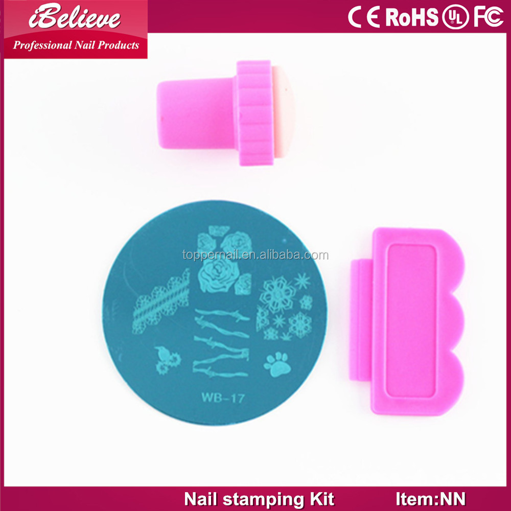 Low price hot and professional stamping nail art kit