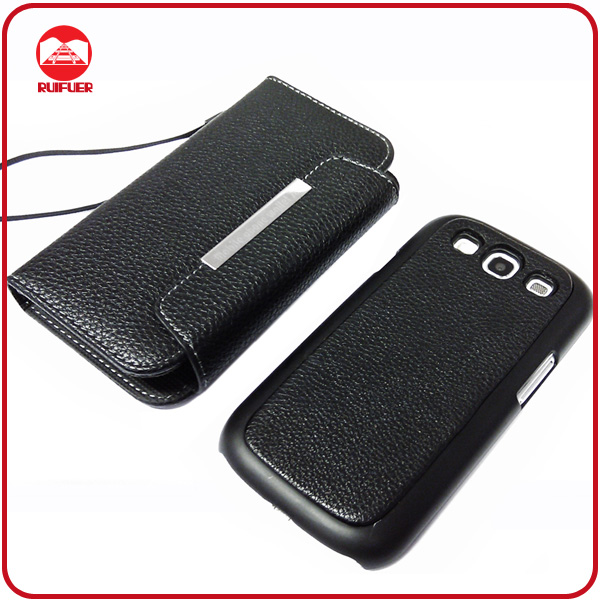 RF Manufacturer Stylish 2 in 1 With Magntic Wallet Leather Hard Detachable Case Cover for Samsung Galaxy S3 I9300