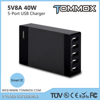 Travel Accessories with 5 Port Desktop USB Charger for iphone 6 6s