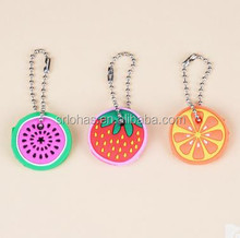 New arrival funny fruits pattern rubber house key covers