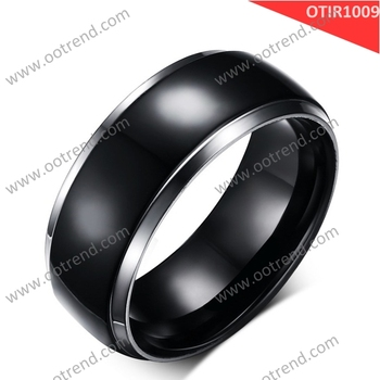 fashion jewelry manufacturer men black color titanium rings
