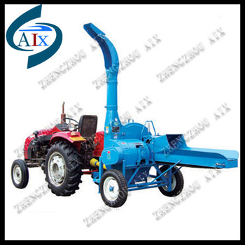 Tractor add 8 ton per hour chaff cutter machine