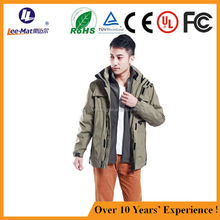 2015 Mens Clothing outdoor winter body warmer clothes heat resistant battery windproof hunt jacket