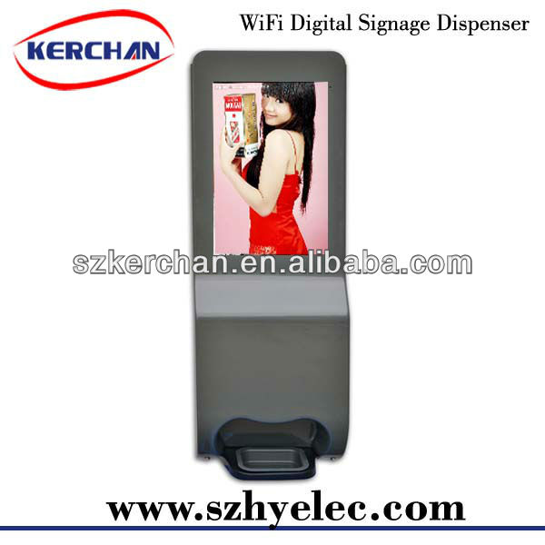 19 inch network digital signage videoplayer with dispenser